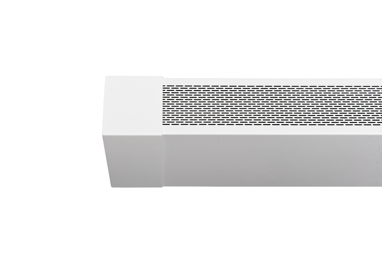 White perforated replace baseboard heater cover panel