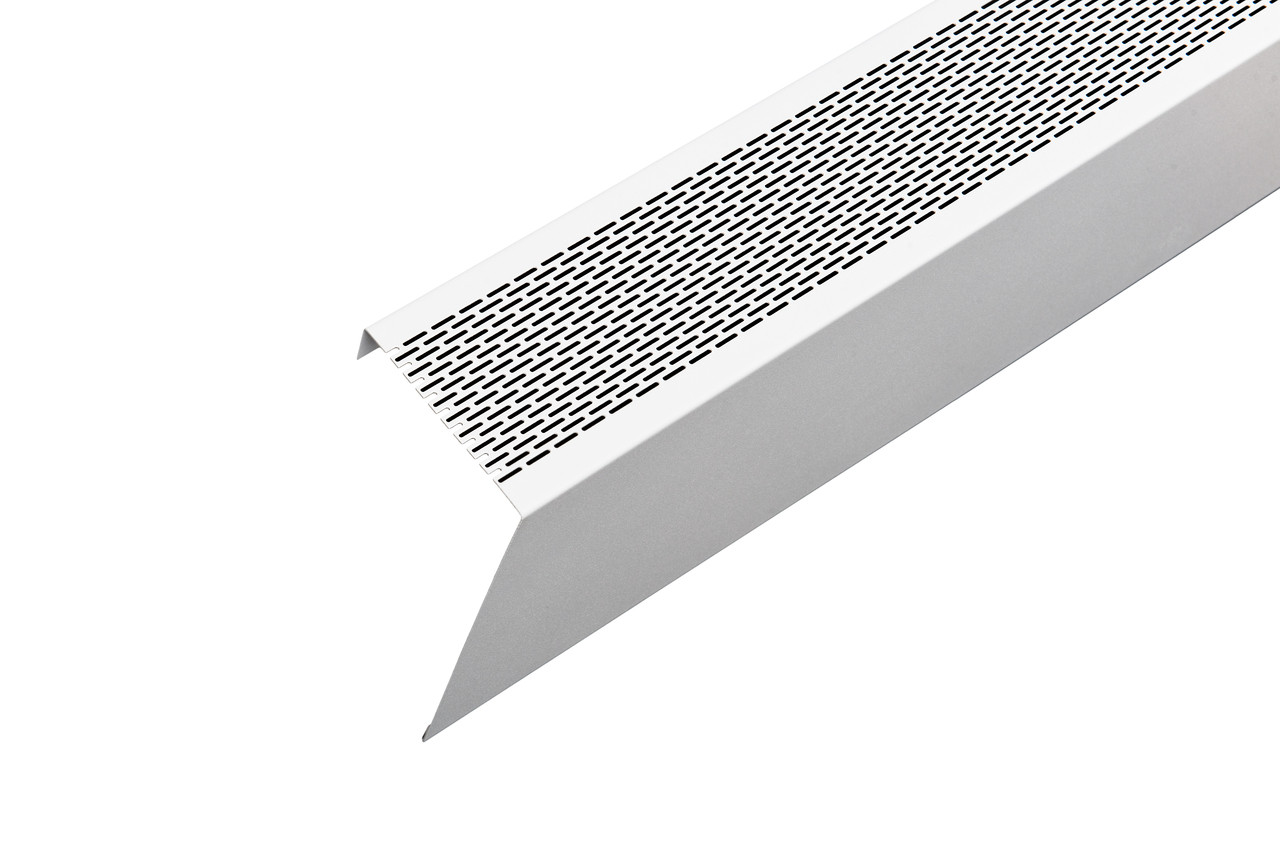 White perforated atlas baseboard heater cover panel