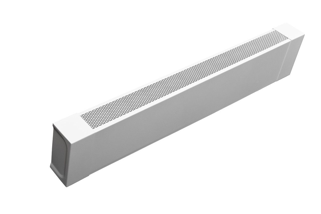 White baseboard heater cover