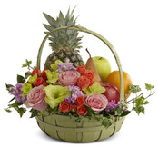 Rest in Peace Fruit & Flowers Basket