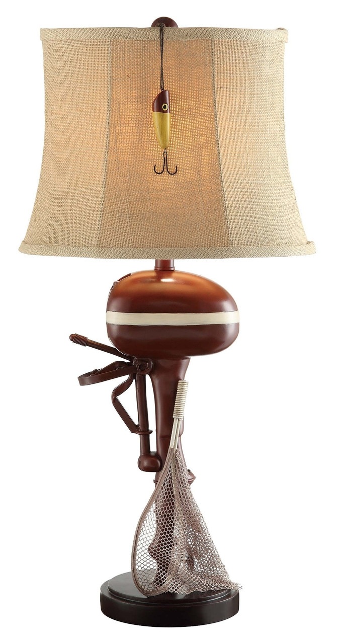 Table lamp vintage style - 30 Vintage Style Outboard Motor Table Lamp