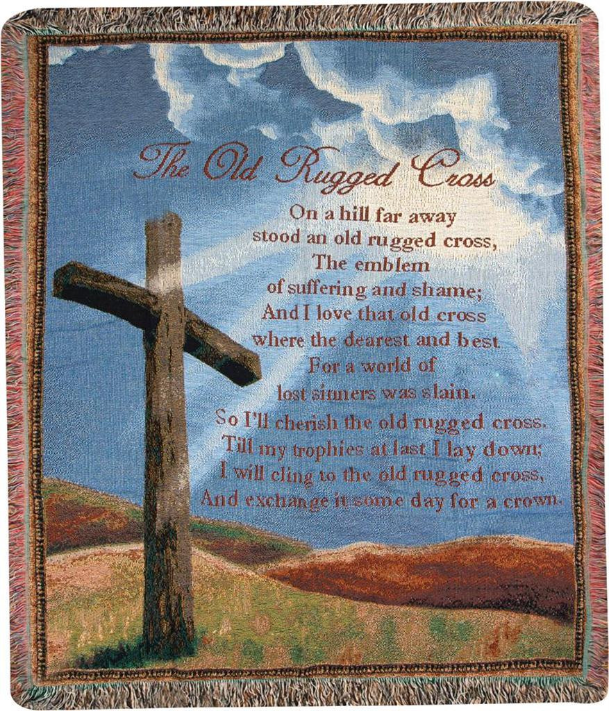 The Old Rugged Cross Throw Blanket Soderbergs Floral And