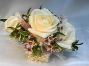Three White Roses Corsage - Handmade by Soderberg's Floral Designers