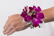 All Orchid Wrist Corsage