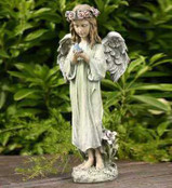 Young Angel with Bird Statue