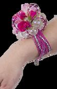 Custom Beaded Cuff Wrist Corsage