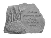Mother plant the seeds with lavendar... Memory Stone