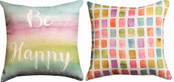 Be Happy Reversible Pillow