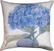 Blue Hydrangea  Pillow