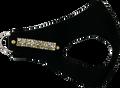 Black Ultrasuede Dubai Pet Dog Harness w Swarovski Crystals Size Small