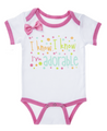 """I Know, I Know, I'm Adorable"" Baby Onesie Diaper Shirt (0 - 6 Months)"
