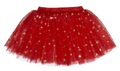 Ganz Baby Christmas / Holiday Tutu Red with Gold Metallic Stars (0 - 12 Months)