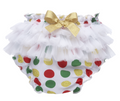 Polka Dot Baby Christmas / Holiday Diaper Cover (0 - 12 Months)