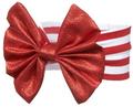 Elegant Metallic Red Ribbon Baby Girl's Headband for 0 - 12 Months