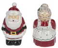 Whimsical Kissing Santa and Mrs. Claus Christmas Salt & Pepper Shakers