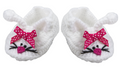Plush Pink and White Baby Bunny Booties