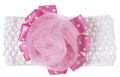 Sweet Baby Girl Pink and White Flower Headband