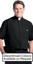Clergy Shirt, Short Sleeve Full Cut