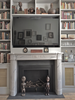 Louis XVI Marble Mantel in Cararra with Black Slate surround by MantelCraft