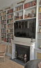Louis XVI Marble Mantel perfectly compliments this Manhattan apartment