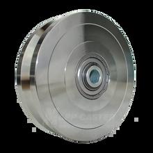"V-Groove Zinc Plated Steel Wheel 6"" x 1-3/4"" - 5000 lbs capacity"