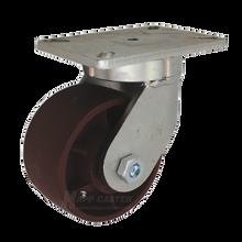 "6"" x 3"" Ductile Steel Swivel Caster - 5400 lbs Capacity"