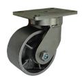 "6"" x 3"" Cast lron Wheel Swivel Caster - 2500 lbs Capacity"