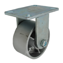 "6"" x 3"" Cast lron Wheel Rigid Caster - 2500 lbs Capacity"