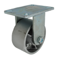 "6"" x 3"" Cast lron Wheel Rigid Caster - 2500 lbs Capacity"