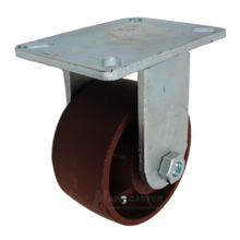 "6"" x 3"" Ductile Steel Rigid Caster - 5400 lbs Capacity"