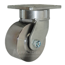 "4"" x 2"" Forged Steel Swivel Caster -1500 lbs Capacity"