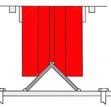 V-groove on inverted track