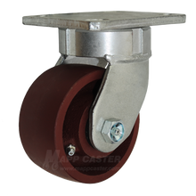 "4"" x 2"" Ductile Steel Swivel Caster -1500 lbs Capacity"