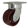 "4"" x 2"" Ductile Steel Swivel Caster -1500 lbs Capacity"