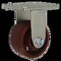 "4"" x 2"" Ductile-Iron Rigid Caster -1500 lbs Capacity"