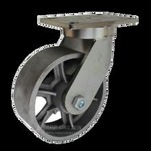 "8"" x 3"" Cast Iron Wheel Swivel Caster -2500 lbs Capacity"