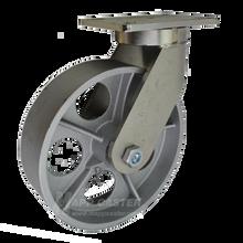 "10"" x 3"" Cast Iron Wheel Swivel Caster - 2500 lbs Capacity (P7110301101)"