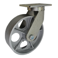"10"" x 3"" Cast Iron Wheel Swivel Caster - 2500 lbs Capacity (P7110301101)"