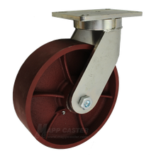 "10"" x 3"" Ductile Wheel Swivel Caster - 5400 lbs Capacity"