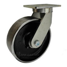 "10"" x 3"" Forged Steel Wheel Swivel Caster - 5000 lbs Capacity"