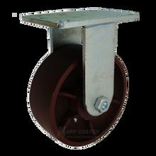 "8"" x 3"" Ductile Steel Rigid Caster - 5400 lbs Capacity (P7008301112)"