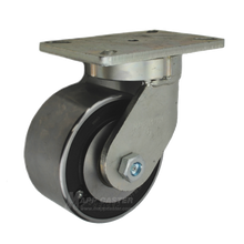 """6"""" x 3"""" Forged Steel Swivel Caster - 5400 lbs Capacity"""
