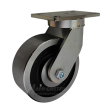 "8"" x 3"" Forged Steel Wheel Swivel Caster - 5400 lbs Capacity (P7108301201)"
