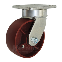 "5"" x 2"" Ductile Steel Kingpinless Swivel Caster - 1500 lbs Capacity (P5105201121)"