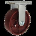 "6"" x 2"" Ductile Steel Rigid Caster - 1500 lbs. Capacity"