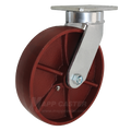 "8"" x 2"" Ductile Steel Kingpinless Swivel Caster -2000 lbs Capacity"