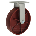 "8"" x 2"" Ductile Steel Wheel Rigid Caster -2000 lbs Capacity"