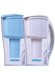 Pitchers designed in an attractive clear and blue your choice. Standard Pitcher includes one multistage cartridge filter. Other specialty cartridges are available to address your specific needs (removal fluoride, arsenic and demineralizer).