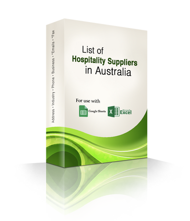 List of Hospitality Suppliers Database