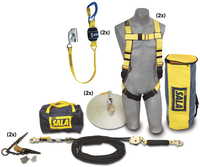 DBI-SALA 2 Person Roofer's Fall Protection Kit - Horizontal Lifeline System - 7611907